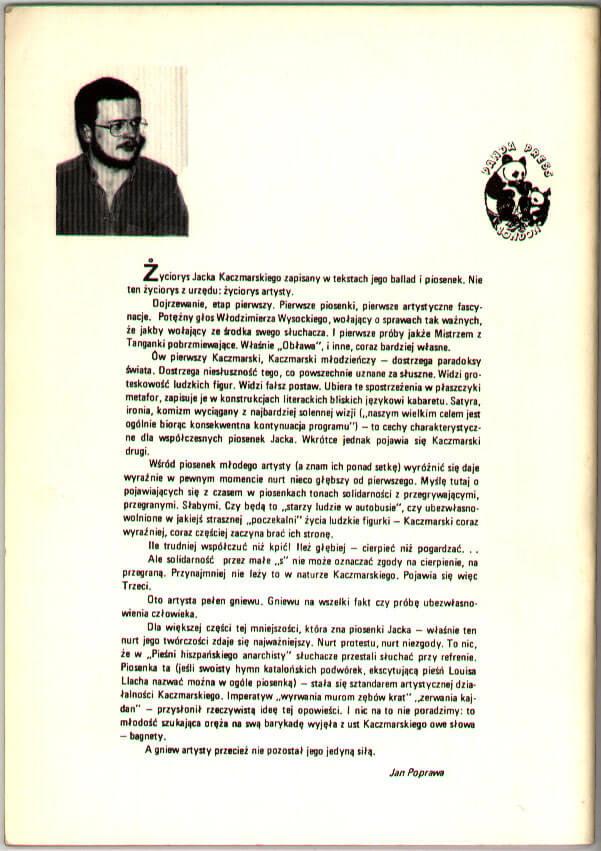 Trzydzieści wierszy i piosenek, London: Panda Press, 1987